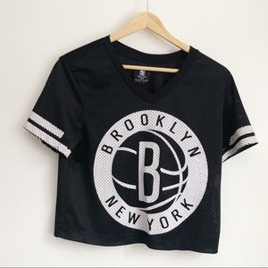 Brooklyn New York MBA B&W Mesh Cropped Top | Small